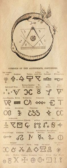 Symboles en Alchimie et Franc-Maçonnerie : Ouroboros, Sceaux de Salomon, éléments, compas et équerre ...