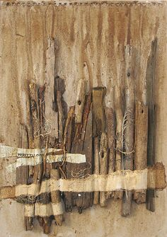 wood assemblage 2 by lisa temple-cox Found Object Art, 3d Studio, Encaustic Art, Assemblage Art, Driftwood Art, Medium Art, Collage Art, Collages, Textile Art