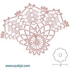 Crochet Snowflake Pattern, Crochet Edging Patterns, Crochet Motifs, Crochet Snowflakes, Crochet Diagram, Doily Patterns, Crochet Chart, Crochet Squares, Crochet Designs
