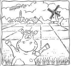 kleurplaat koe.jpg (658×612)
