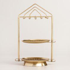 Gold Dish Swivel Jewelry Stand | World Market