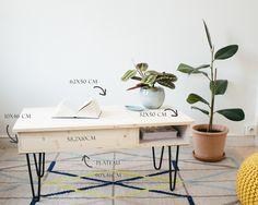 DIY : *la table basse* & ses hairpin legs *(sans clou ni vis)* - Carnet de printemps
