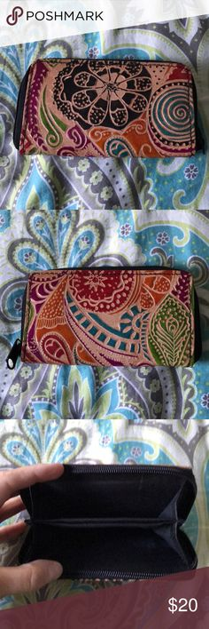 Handmade Leather Wallet Colorful, fun handmade leather wallet, small in size. Never used. Bags Wallets