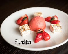Floriditas Strawberry Basil Sorbet with Strawberry Marshmallow & Macerated Strawberries / Moore Wilson's Swiss Roll Tin, Wine Direct, Grand Marnier, Toasted Marshmallow, Green Curry, Latest Recipe, Strawberry Recipes