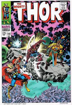 Cap'n's Comics: Unpublished--Four Thor Covers by Jack Kirby