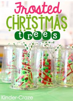Frosted Christmas Trees MUST remember this idea next Christmas!