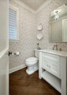Powder room # powder room - DIY Deco Home Trends Powder Room Storage, Powder Room Vanity, Powder Rooms, Guest Bathrooms, Bathroom Ideas, Room Pictures, Home Trends, Wall Colors, Color Walls