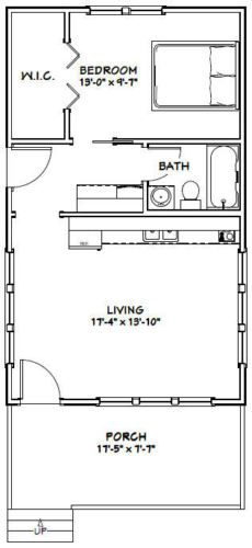 14x40 cabin floor plans tiny house pinterest cabin for 18x30 house plans