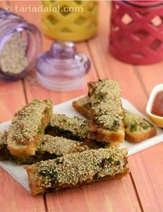 Sesame fingers are one of the most favorite snacks in chinese cuisine. This recipe calls for sliced bread, so if you have leftover bread, this is a delicious way to use them up. Shredded veggies are used as a topping on the bread and then batter-fried. These are then cut into strips and served, hence the name. These fingers make a great snack when your kids get back from school or even as finger food in a party. You can try adding paneer or tofu along with the veggies as a variation, but the…