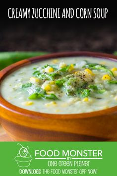 Creamy Zucchini and Corn Soup!