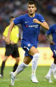 Morata in Chelsea Fc Chelsea, Chelsea Football, Chelsea Fc Players, Alvaro Morata, Soccer World, Nike Football, David Beckham, Football Players, Hot Guys