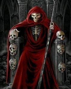 Death Reaper, Grim Reaper Art, Grim Reaper Tattoo, Don't Fear The Reaper, La Santa Muerte Tattoo, Santa Muerte Prayer, Reaper Drawing, Gothic Images, Gothic Fantasy Art