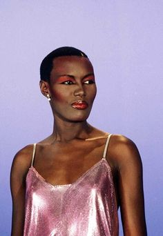 Grace Jones as Lucy. Wanted Leopold to be surrounded by large, masculine women who love him.