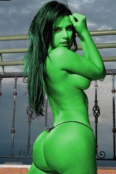 BELLEZA VERDE She Hulk morph manip by elneanderthal on deviantART... check it out:  http://www.pinterest.com/meldarfranny/