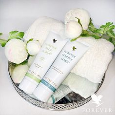 Forever Marine Mask® provides deep cleansing while balancing the skin's texture with natural sea minerals, plus the conditioning properties of Aloe Vera.  Forever Aloe Scrub® With Stabilized Aloe Vera gel and Jojoba Oil, this effective skin cleanser is gentle enough for everyday use. http://360000339313.fbo.foreverliving.com/page/products/all-products/5-skin-care/usa/en Need help? http://istenhozott.flp.com/contact.jsf?language=en Buy it http://istenhozott.flp.com/shop.jsf?language=en