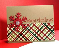 Tinker with paper Christmas cards snow maiden button