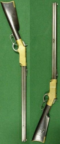 """Henry Rifle 1863 """"That damn Yankee rifle you load on Sunday and shoot all week"""" Weapons Guns, Guns And Ammo, Firearms, Shotguns, Revolvers, Henry Rifles, Cowboy Action Shooting, Lever Action Rifles, Winchester"""