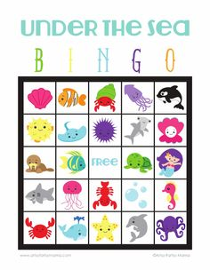 Under the Sea Bingo | Scribd