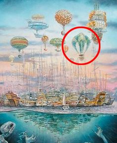 "Ballon ""anderst"" Ferris Wheel, Solar, Balloons, Fair Grounds, Painting, Travel, Art, Art Background, Globes"