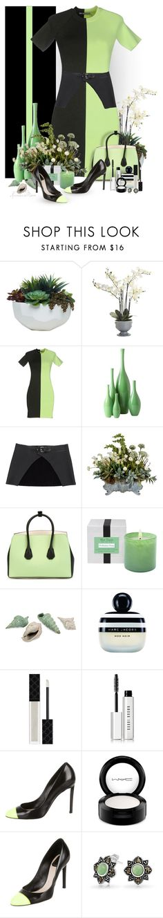 """""""Thin Mint"""" by kansasmom ❤ liked on Polyvore featuring Lux-Art Silks, Pier 1 Imports, T By Alexander Wang, Global Views, MM6 Maison Margiela, Bally, LAFCO, Marc Jacobs, Gucci and Bobbi Brown Cosmetics"""