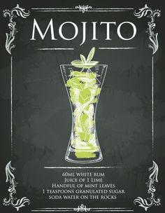 """Mojito Recipe Sign""   Sign Up Fun Metal Sign 150mm x 200mm from http://shop.global-journey.com/signup---metal-signs-98-c.asp. £5.99"