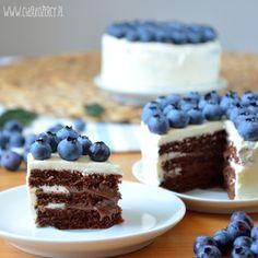 Borówkowe torciki z czekoladą / Chocolate blueberries layer mini cakes / ciastkozercy