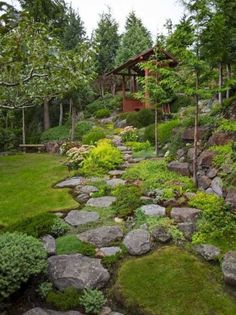 Amazing modern rock garden ideas for backyard 29 beautiful front yard rock garden landscaping ideas Landscaping With Rocks, Front Yard Landscaping, Landscaping Ideas, Natural Landscaping, Stone Landscaping, Hydrangea Landscaping, Inexpensive Landscaping, Modern Landscaping, Landscape Designs