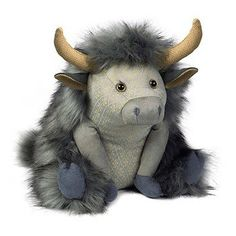 Posh Angus Highland Cow Doorstop from Dora Designs . . Sold by TartanPlusTweed.com A family owned kilt and gift shop in the Scottish Borders