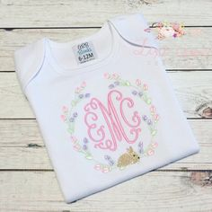 Lyndsey hall added a photo of their purchase burpe/bib/onesi Machine Embroidery Gifts, Embroidery Applique, Machine Embroidery Designs, Embroidery Ideas, Monogram Machine, Baby Applique, Southern Baby, Monogram Frame, Down South