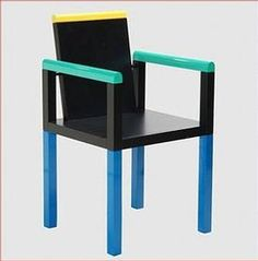SOWDEN GEORGE Memphis chair 'Palace' numbered