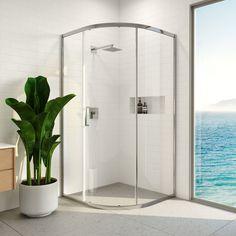 Sliding Shower Screens, Safety Glass, Oversized Mirror, Chrome, Brisbane, Beach Girls, Palm Beach, Showers, Bathroom