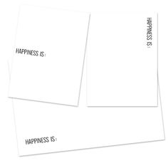 """free project life DOWNLOAD: clean and simple journaling cards with """"Happiness is..."""" on them -- from designEDITOR"""