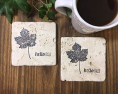 A personal favorite from my Etsy shop https://www.etsy.com/ca/listing/554323573/hello-fall-maple-leaf-natural-stone