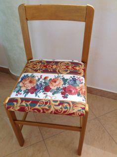 Chair wooden furniture unique materials paint by Ecosostenibilita, €70.00