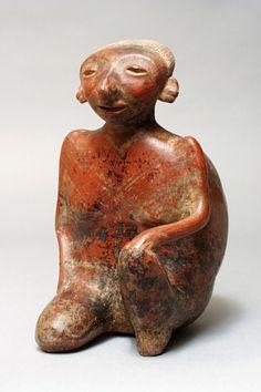 Seated Female Figure. Mexico, Nayarit, 200 B.C.- A.D. 500 http://www.pinterest.com/sansabba/precolombian-art/