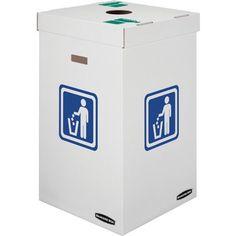 Bankers Box Medium Trash and Recycling Corrugated Waste Bins, 42 Gallon, 10 Each Trash Disposal, Waste Disposal, Recycling Containers, Recycling Bins, Paper Recycling, Recycling Station, Recycle Cans, Reuse, Corrugated Box
