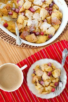 eggnog cranberry baked french toast