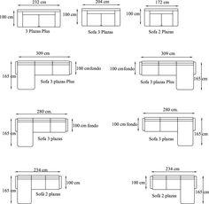 Measurements for sofas