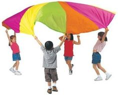 Great gift for kids from 18 months to 10 years!  10' play parachute is big enough to bounce balls, run under and so much more