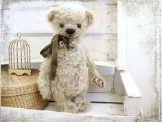 Artist Teddy Bear Varyenyka OOAK 13 inches by zverrriki on Etsy