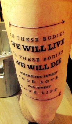 Mumford and Sons tattoo #loveit