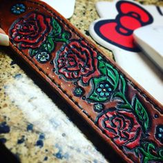 Custom leather rifle sling #hunting