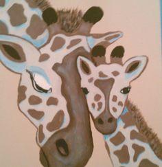 giraffe painting for friends nursery