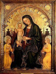 Gentile da Fabriano - Madonna in trono col Bambino e due angeli - tempera e oro - 1410-1415 circa - Philbrook Art Center a Tulsa (Oklahoma).