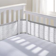 BreathableBaby Grey Breathable Mesh Printed Crib Liner