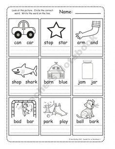 Kindergarten Phonics Worksheets | Free printable word family ...