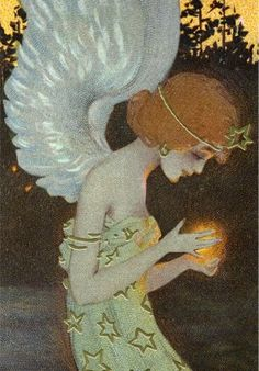 ≍ Nature's Fairy Nymphs ≍ magical elves, sprites, pixies and winged woodland faeries - Raphael Kirchner, 1910