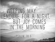 """The """"night"""" = rest of life; the """"morning"""" = reunion of eternity    #Promise of God"""