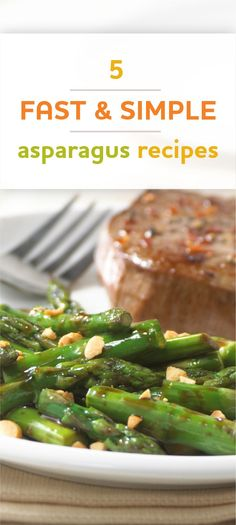 An easy stir-fried asparagus recipe tossed with soy sauce and sprinkled with peanuts Quick Asparagus Recipe, How To Cook Asparagus, Veg Dishes, Side Dishes Easy, Vegetarian Recipes, Healthy Recipes, Healthy Options, Rice Recipes, Vegetable Sides