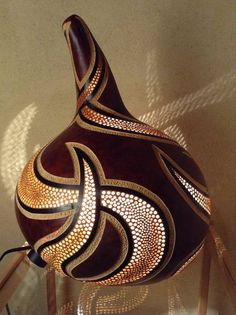 Original decorated gourd lamp by Aleyxx on Etsy